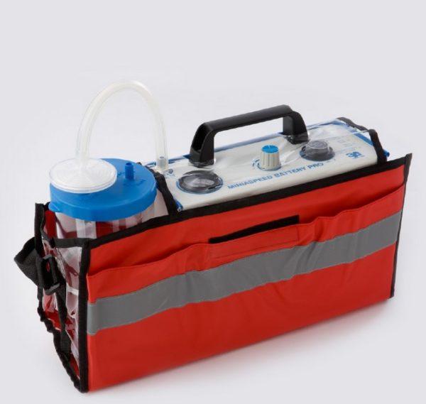 Miniaspeed battery pro. Aspirador quirúrgico. Bolsa de transporte.