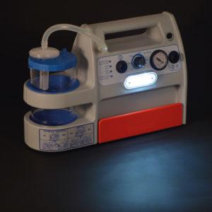 Miniaspeed battery evo. Aspirador portátil de secreciones para uso hospitalario y emergencia. Luz led para situaciones de emergencia.