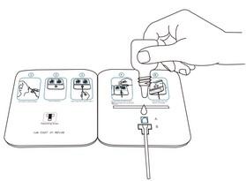 Paso 4 Añadir gotas. Test SARS Cov2
